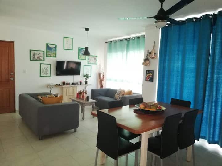 1-Apartment, 3 Bedrooms A/C, 2 Bathrooms!