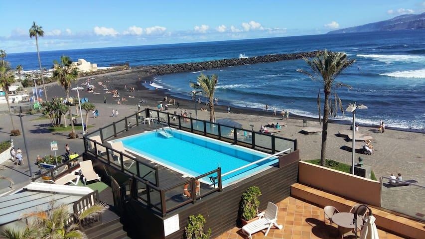 Primera línea de playa para 4 perso - Puerto de la Cruz - Apartemen