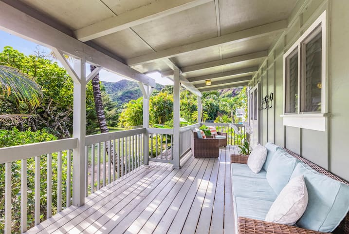 Hale Kanani TVNC #1342 AC, Steps to Hanalei Bay, Mountain & Waterfall Views
