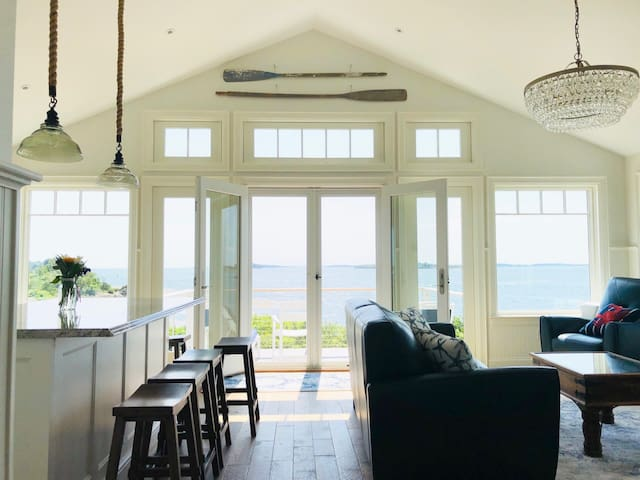 Brand new year-round oceanfront home with beach.