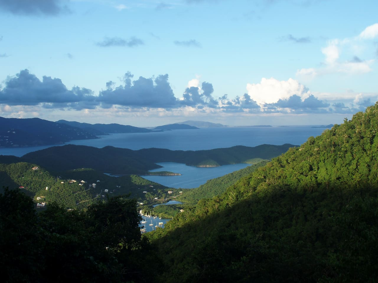 Easterly View over Coral Bay, Hurricane Hole, Sir Drake Channel, Tortola and Virgin Gorda