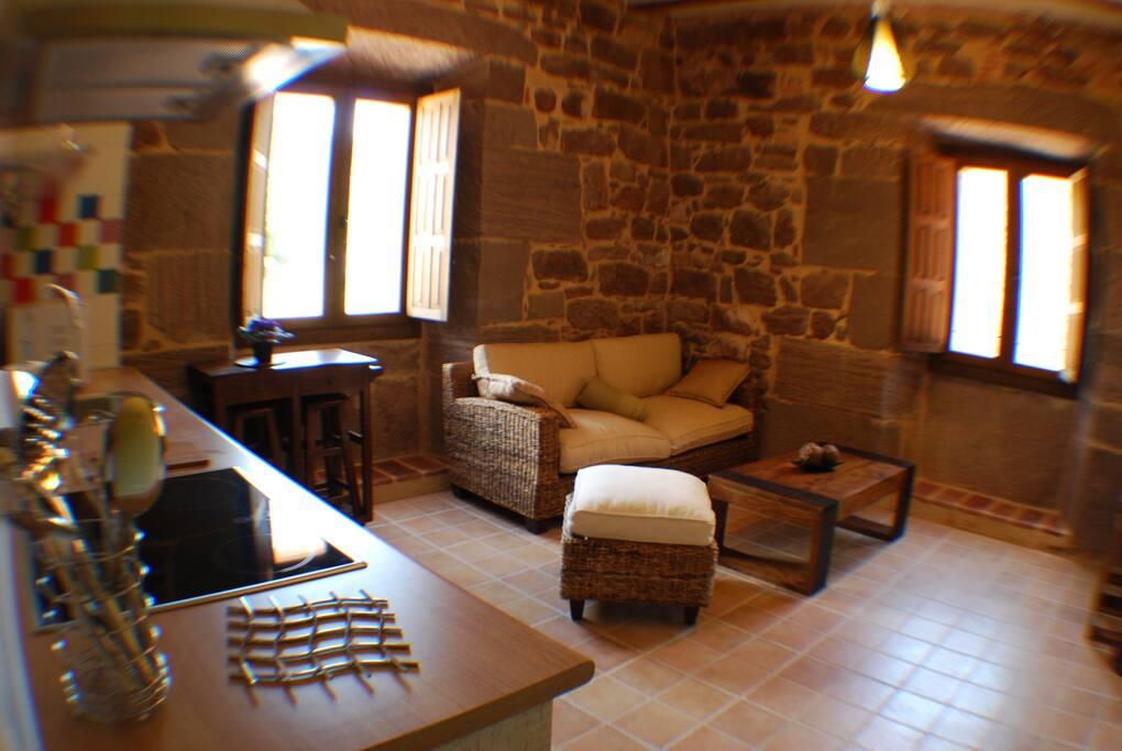 Salón-Cocina del Apartamento