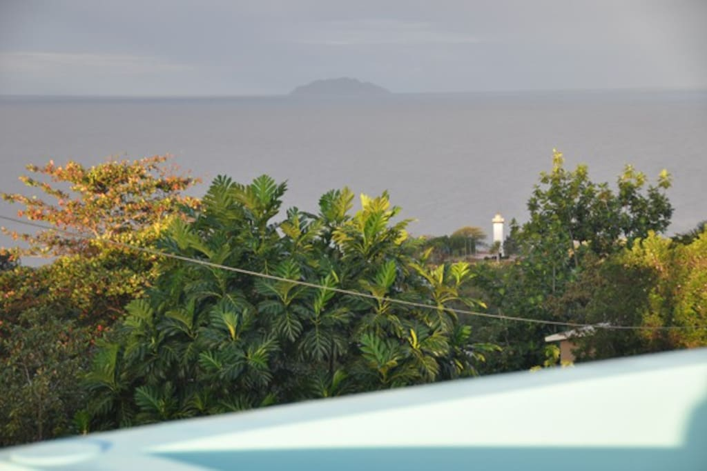 View From your private Deck.  Desecheo Island, Rincon Lighthouse, & Fantastic Sunsets