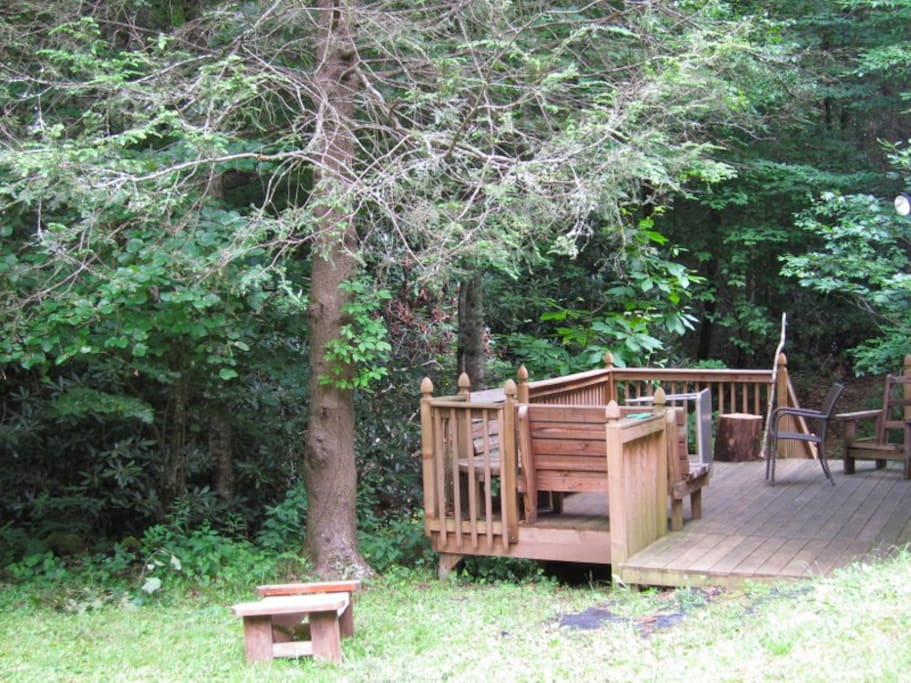 creek-side deck