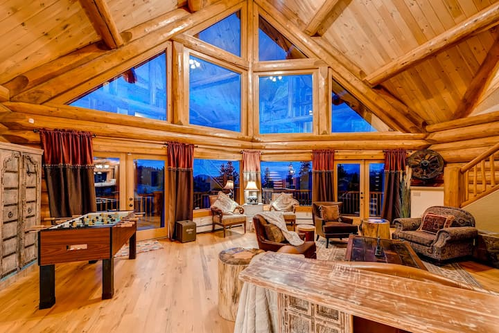 LUXURY 6 BEDROOMS LOG MOUNTAIN HOME DENVER BOULDER