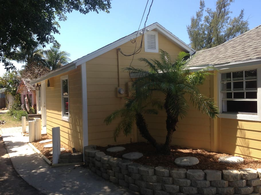 Two bedrooms and two bathrooms. Key West Style neighborhood. Walk to deli and surf shop.