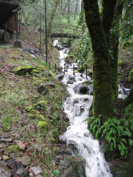 Seasonal Waterfall next to Retreat