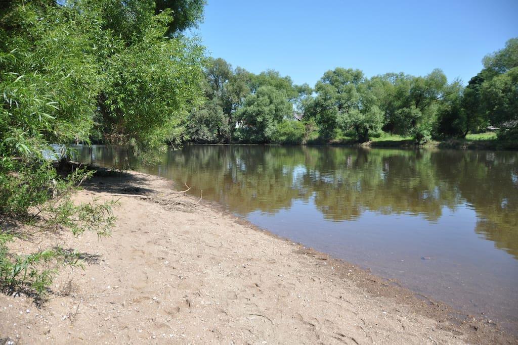 Regen River with beach