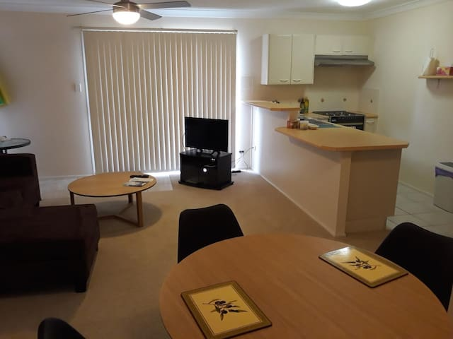 Combined Lounge, Dining, Kitchen area.