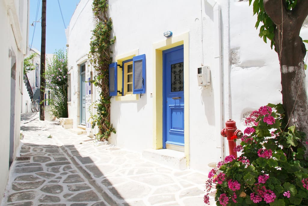 The front door and surroundings.