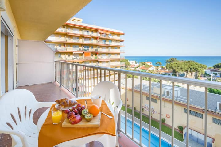 Malgrat de Mar Blvd Seaview Apartment