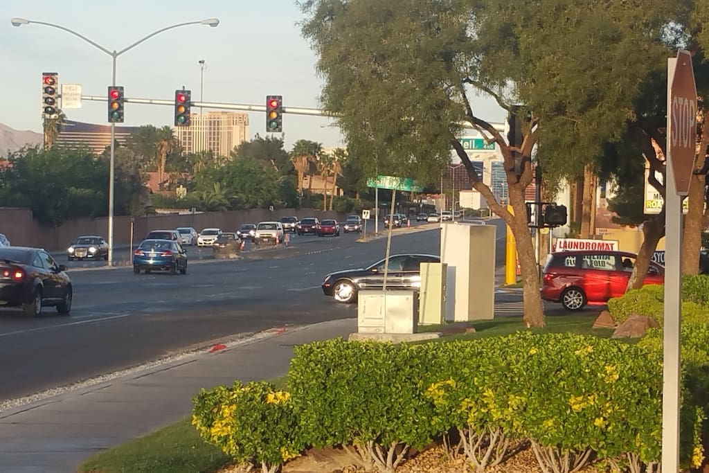 View of the Strip from the community