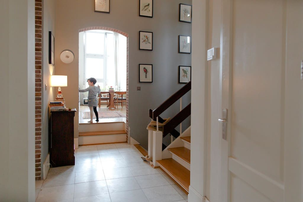 ...central hallway, leading to sitting room....