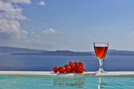 Honeymoon suite in Oia with jacuzzi - Thira
