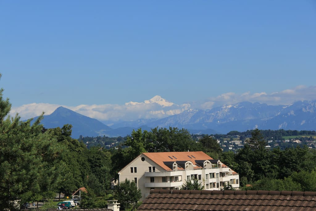 Taken from our balcony : the Mont Blanc during the afternoon