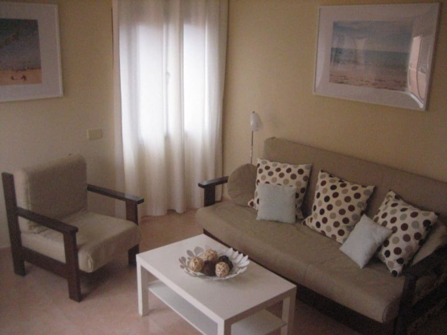 Salon con sofá-cama doble/ Livingroom with sofa-bed (double size)