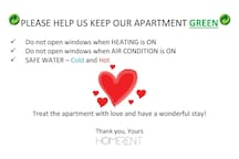 Treat our apartment with LOVE. Feel like at HOME.