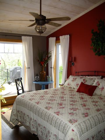 The main bedroom has a King size bed with a Lake View