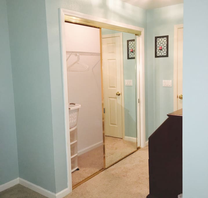 Plenty of closet space for your things