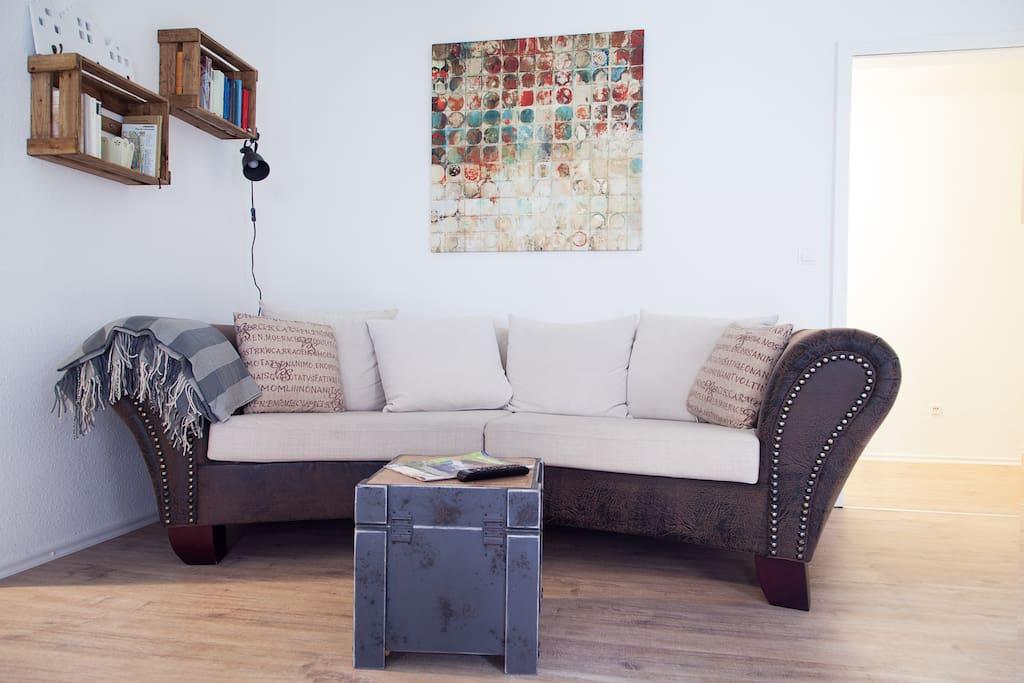Das gemütliche Sofa für entspanntes Lesen oder Fernsehen