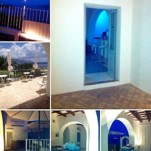 Splendida Villa sul mare grande relax. - Santa Marina Salina - Huvila