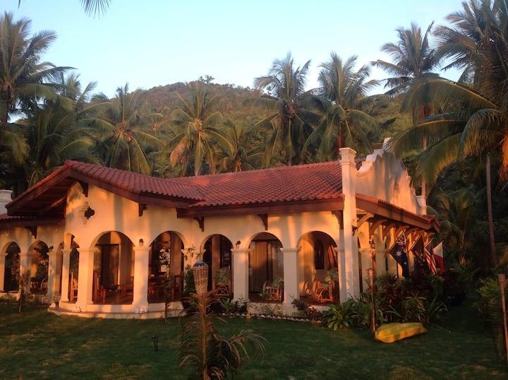 Spanish Style Beachfront House