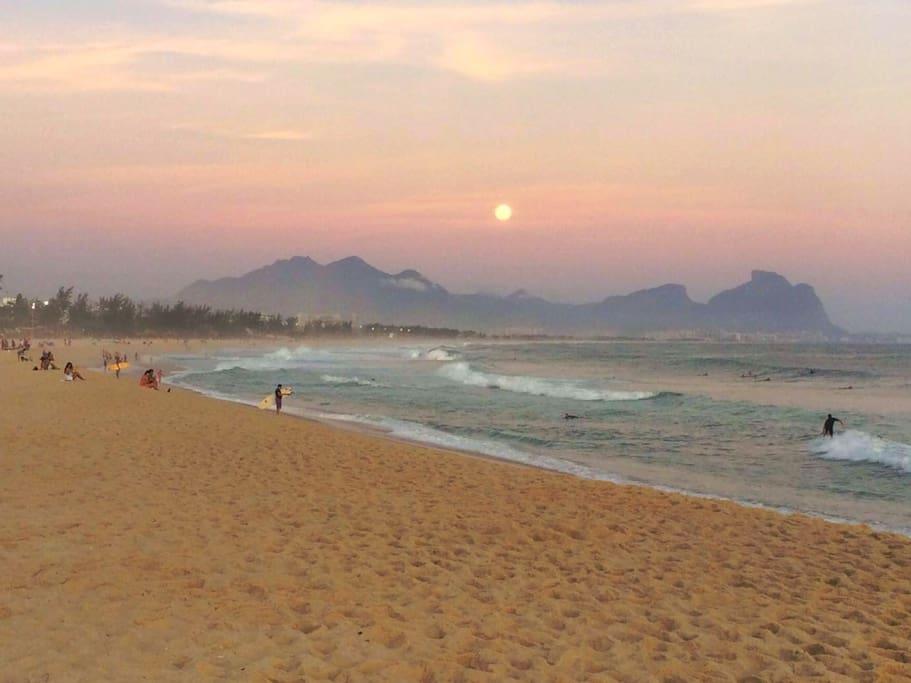Sunrise at Reserva Beach