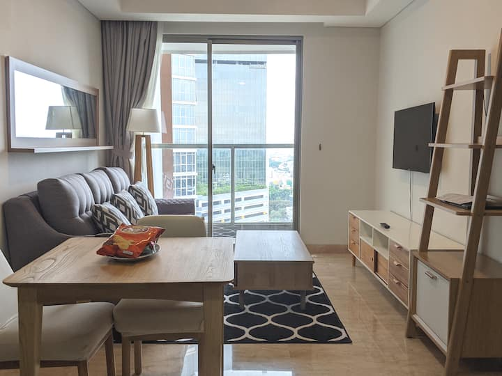 Comfy 51m2 1BR Apartment in Pantai Indah Kapuk
