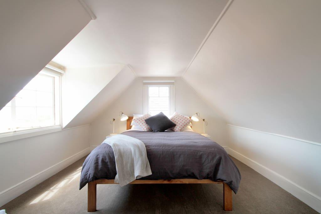 The queen bedroom upstairs