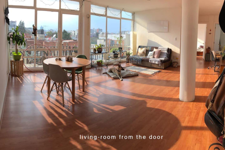 living room from the door
