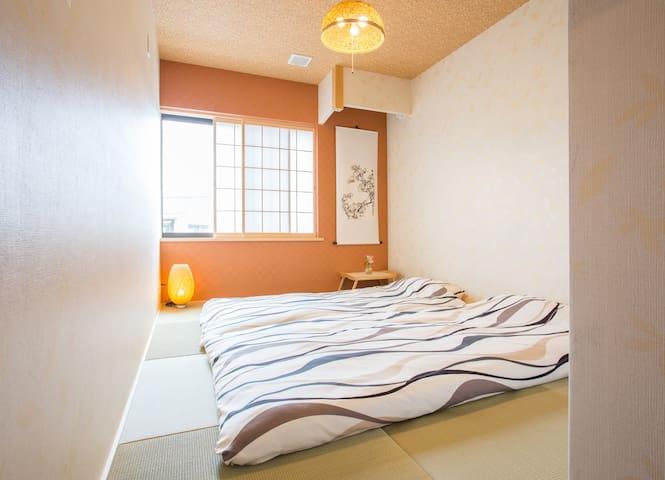 Mulan Hostel可以讲中文,岚山温泉附近榻榻米和标准间,也可以整栋出租