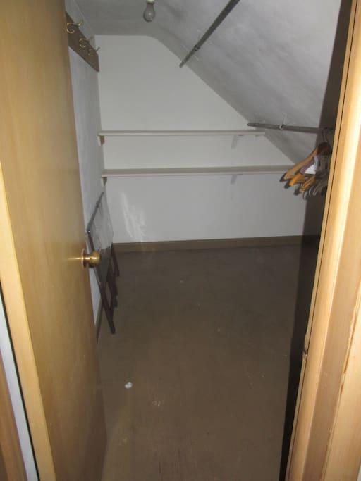 Walk-in closet off front bedroom