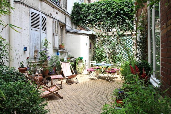 Une maison...La campagne à Paris !