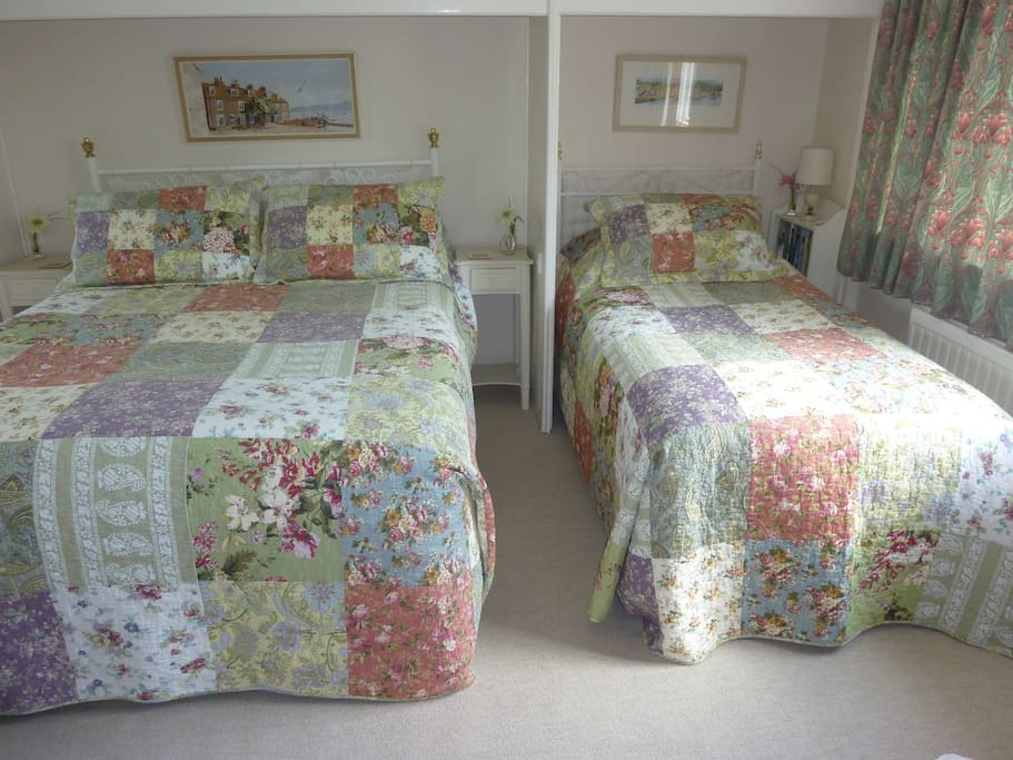 The Family room has a double a single and a fold out single bed