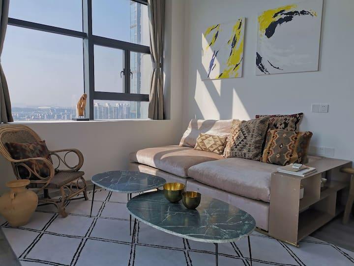 【福州上下杭】独立复式公寓+日式榻榻米茶室&床铺+双层大落地窗俯瞰老城区