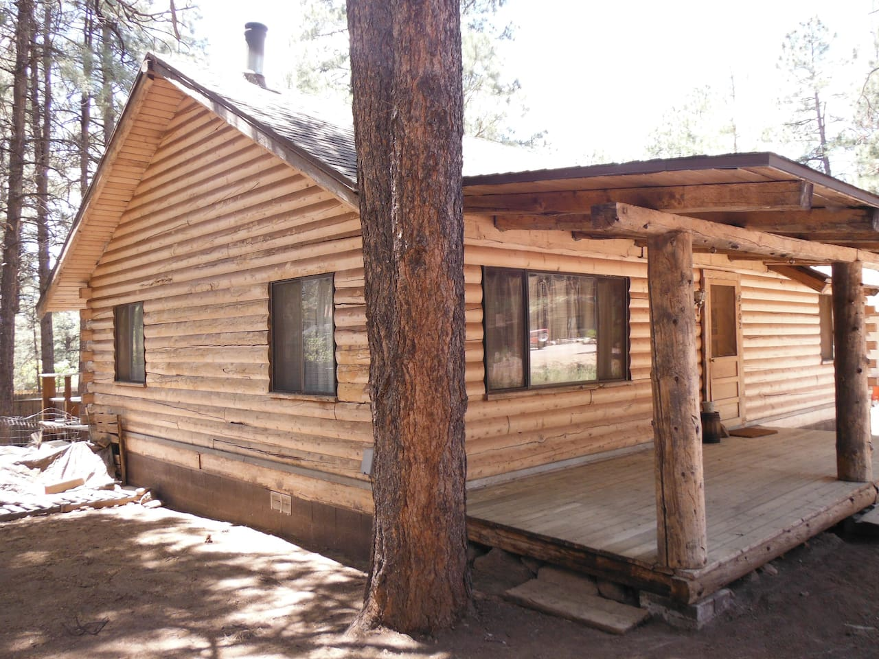 Welcome to the rustic cabin among the pines! You are in for a good time because in this cabin hosting is not about the money; it's about PEOPLE