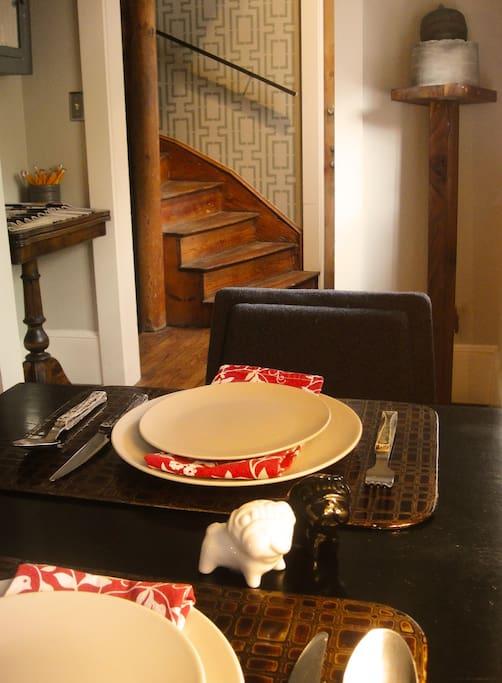 Breakfast table for enjoying house made treats