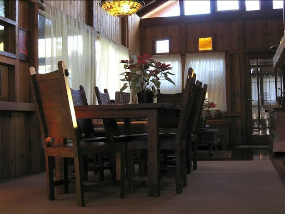 The Dining table in the main living area.