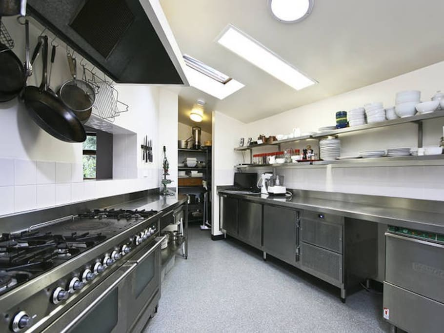 Commercial Kitchen in Lodge is fully equipped. Ask us to cook for you or self-cater.