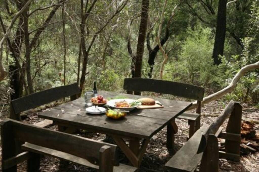 Outdoor bush dining