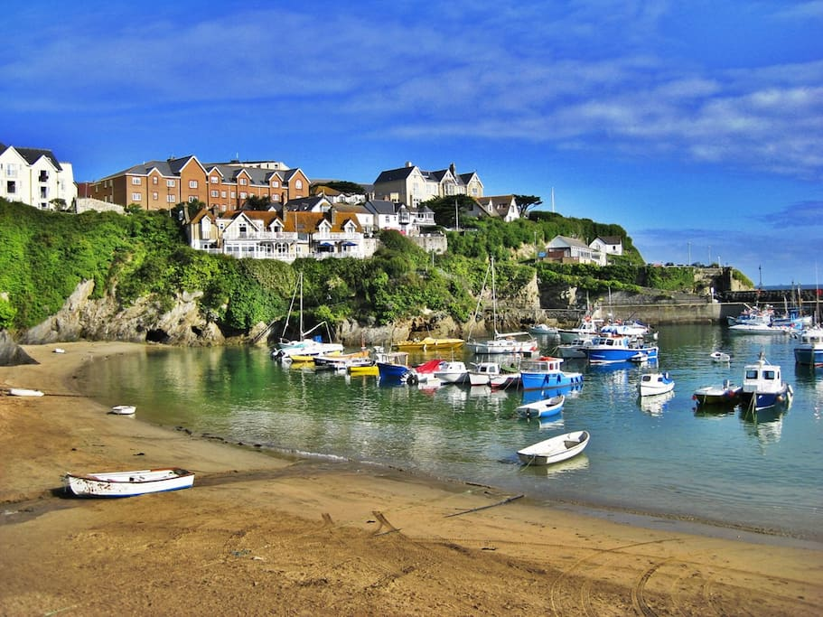 Newquay Harbour - a fully working harbour, that is incredibly beautiful and has amazing fish restaurants nearby so you can sample the local produce.