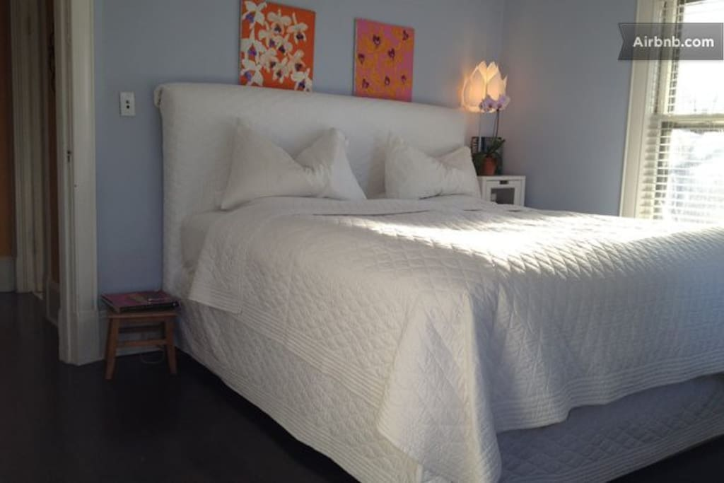 King size bed in one of our rooms.