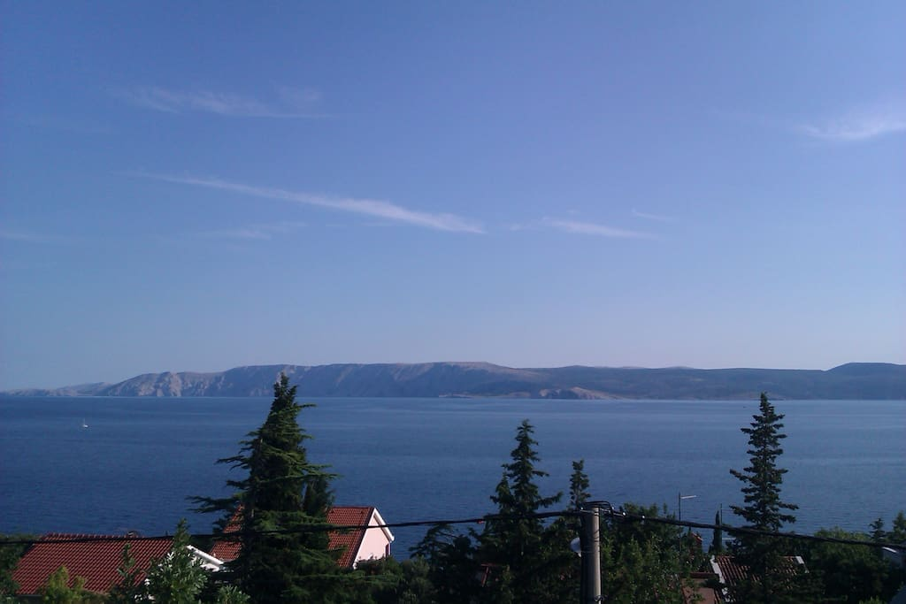 View from the house to island Krk