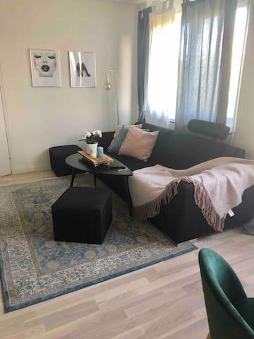 Cozy bedroom with walk-in closet