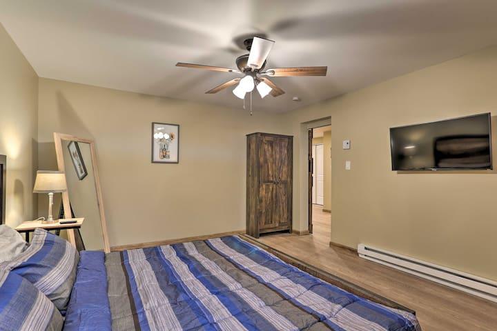 Huge king bedroom with smart TV