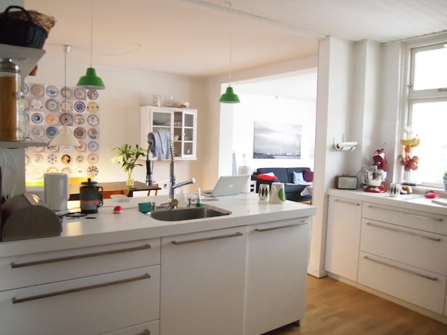 The kitchen is the heart of the apartment
