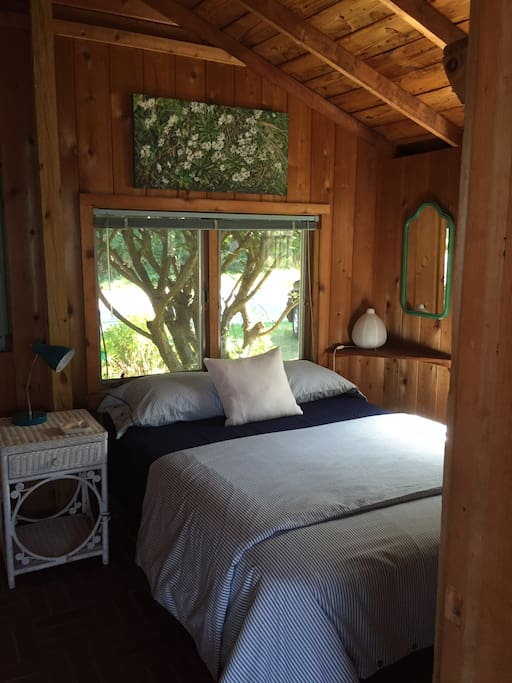 Air conditioned upstairs bedroom