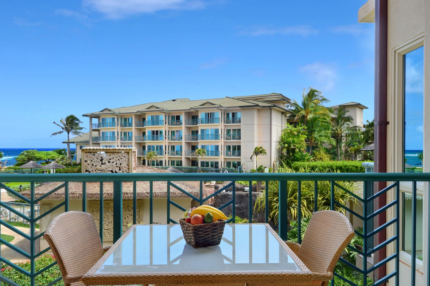 Partial Ocean Views and Resort Views from our B202 Waipouli Beach Resort Suite!!