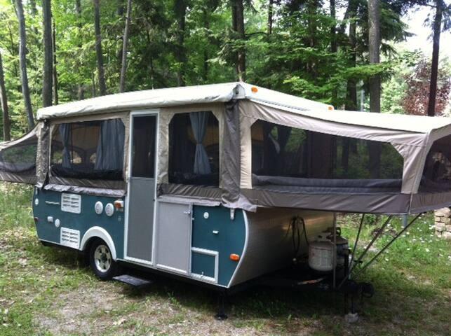 Adorable, Cozy, Custom Tent Camper