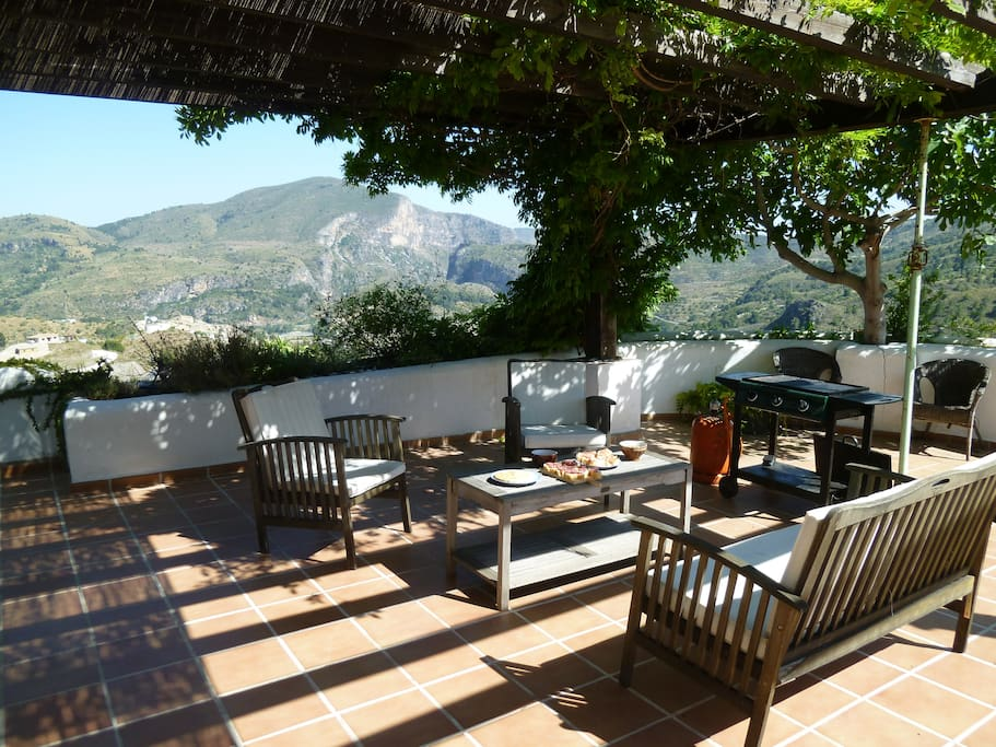 This is the gas BBQ that is available for use, this terrace is a great location to have dinner or a BBQ